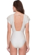 Gottex Orlena Princess of Light Gold Flared Sleeve Deep Plunge Shimmer One Piece Swimsuit