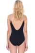 Full Coverage Gottex Prism Black and White V-Neck Lingerie High Back One Piece Swimsuit