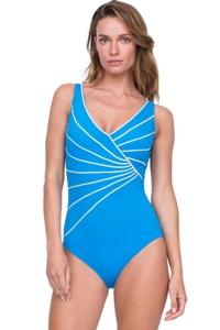 Gottex Sinatra Azure Surplice One Piece Swimsuit