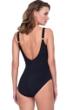Gottex Sinatra Black Square Neck One Piece Swimsuit