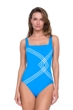 Gottex Sinatra Azure Square Neck One Piece Swimsuit