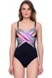 Gottex Utopia V-Neck Cross Over Surplice One Piece Swimsuit