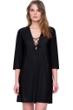 Gottex Vista Black Lace Front V-Neck Tunic