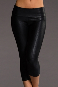 Onzie Black Fishnet Capri