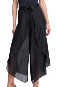 Gottex Collection Bardot Black Cover Up Surplice Pants