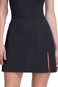 Gottex Essentials Cosmos Black Cover Up Side Slit Skirt