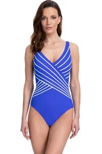 Gottex Essentials Embrace Azure V-Neck Surplice One Piece Swimsuit