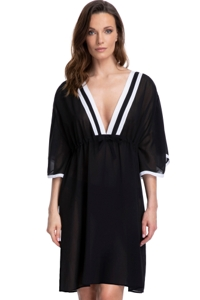 Gottex Essentials Mirage Black V-Neck Tunic