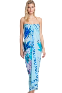 Gottex Collection Paradise Blue Full Length Pareo