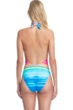Gottex Collection Piruleta V-Neck Halter One Piece Swimsuit