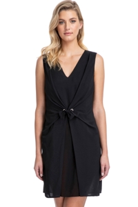 Gottex Collection Vogue Black V-Neck Cover Up Dress