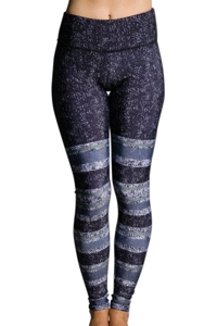 Onzie Textured Stripe Graphic Legging