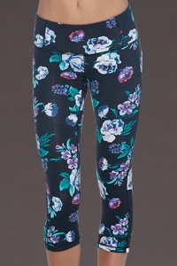 Body Glove Sport Floral Work It Capri