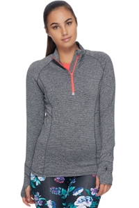 Body Glove Sport Heather Grey Chugi Zip Front Jacket