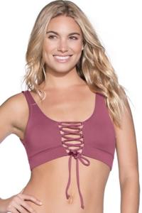 Maaji Juneberry Allure Reversible Lace Up 4-Way Halter Bikini Top