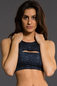 Onzie Night Sky Open Heart Low Impact Sports Bra