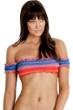 Seafolly Havana Stripe Off The Shoulder Bikini Top