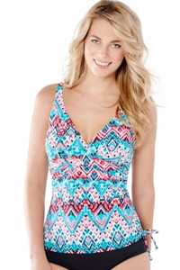 Christina Desert Praise D-Cup Crossover Drawstring Underwire Tankini Top