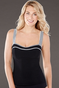 Christina Still Sea D-Cup Wide Strap Tankini Top