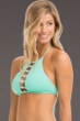ale by Alessandra Shell Yeah Aquamarine High Neck Bikini Top