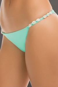 ale by Alessandra Shell Yeah Aquamarine Tab Size Brazilian Bikini Bottom