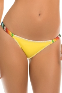 ale by Alessandra Bonfire Crochet Tab Side California Bikini Bottom