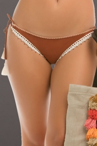 ale by Alessandra Ever Suede Tie Side California Bikini Bottom