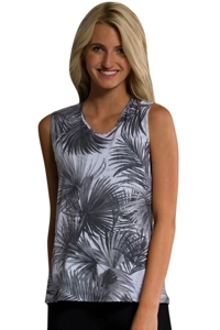 Onzie Tropic Night Twist Back Tank Top One-Size-Fits-All Size O/S
