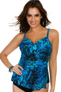 Miraclesuit Off The Scales Paramore Underwire Tankini Top