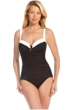 Miraclesuit Color Block DD-Cup Arianna Lace Front One Piece Swimsuit