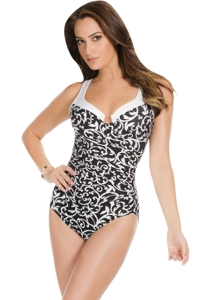Miraclesuit Scroll Lock DD-Cup Escape Underwire One Piece Swimsuit