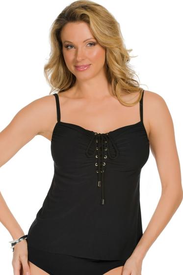 Magicsuit Black Jezebel Tankini Top