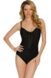 Magicsuit Black Victoria Lace Front Underwire One Piece Swimsuit