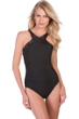 Magicsuit Leather Bonnie High Neck Underwire One Piece Swimsuit