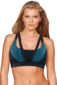 TLF Apparel Prima Jade Heather Strappy Devant Low Impact Bra