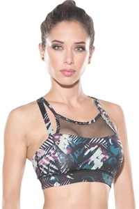 TLF Apparel Muse Paradise Mesh Overlay Luna Low Impact Sports Bra