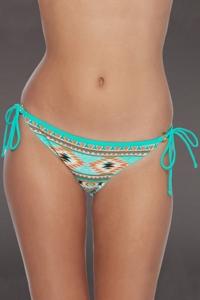 Body Glove Folk Brasilia Tie Side Cheeky Bikini Bottom
