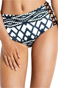 Seafolly Modern Trible High Waist Lattice Bikini Bottom