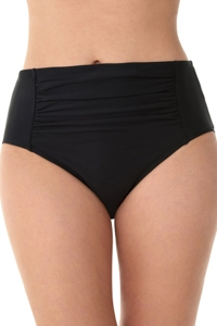 Penbrooke Black Shirred Tankini Bottom