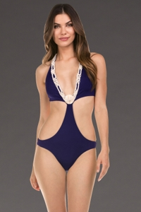 Isabella Rose Low Tide Indigo One Piece Swimsuit