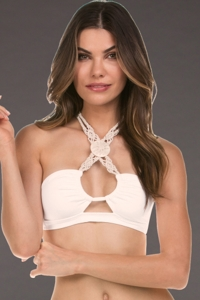 Isabella Rose Low Tide Ivory Bandeau Bikini Top