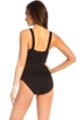 Miraclesuit Black Embellished Karavelle Underwire One Piece Swimsuit
