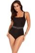 Miraclesuit Black Belterra One Piece Swimsuit