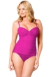 Miraclesuit Fuchsia Plus Solid Rialto One Piece Swimsuit