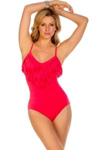 Magicsuit Blush Fringe Blaire One Piece Swimsuit