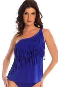 Magicsuit Twilight Solid Tina Asymmetrical Tankini Top