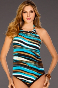 Magicsuit Zipped Up Nicole Underwire Tankini Top