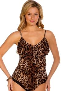 Magicsuit Brown Cheetah Rita Tankini Top