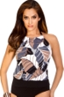 Magicsuit Neutral Territory Alicia Underwire High Neck Blouson Tankini Top