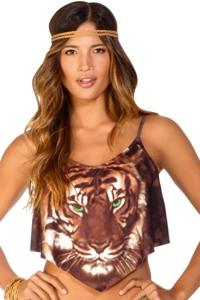Eco Peace Jungle Jam Allie Drape Tankini Top